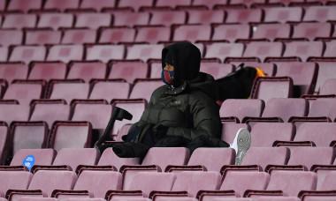 Ansu Fati, în tribună la meciul Barcelona - Juventus / Foto: Getty Images