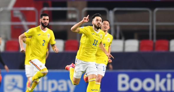 Andrei Ciobanu, după golul marcat cu Olanda / Foto: Profimedia