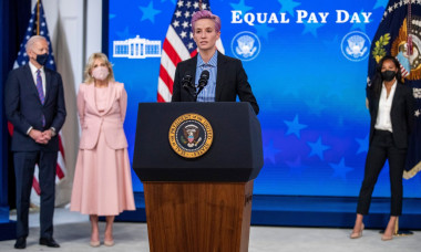 US President Joe Biden participates in an event to mark Equal Pay Day, Washington, District of Columbia, USA - 24 Mar 2021