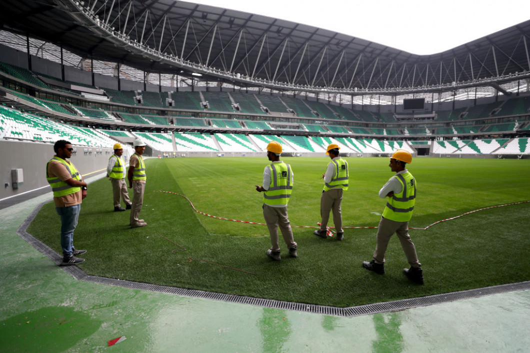 Media Tour Of Education City Stadium In Doha Ahead Of The 2022 FIFA World Cup