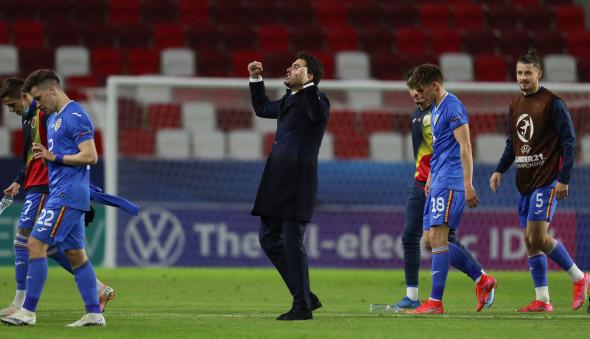 Adrian Mutu, după victoria cu Ungaria U21 / Foto: Profimedia