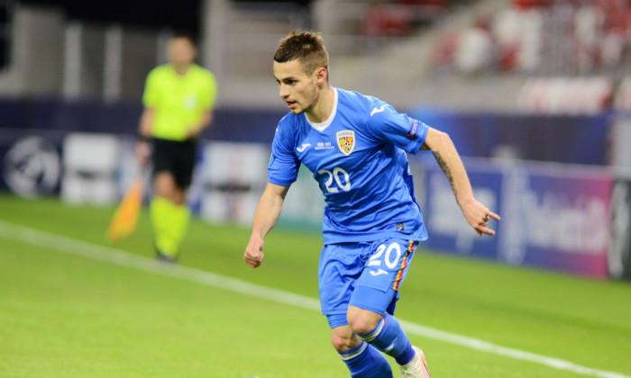 Alexandru Mățan, în meciul cu Ungaria U21 / Foto: Sport Pictures