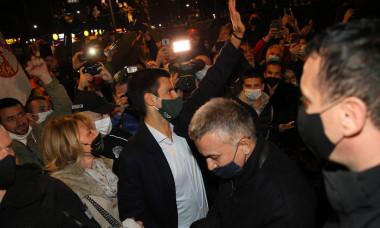 Tennis Serbian tennis player Novak Djokovic projected on Belgrade's city hall