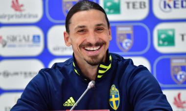 Zlatan Ibrahimovic, la o conferință de presă / Foto: Profimedia