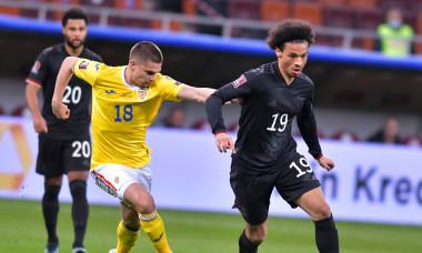 Răzvan Marin și Leroy Sane, în meciul România - Germania 0-1 / Foto: Sport Pictures