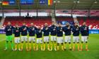 Fotbaliștii naționalei de tineret a României, înaintea meciului cu Germania / Foto: FRF.ro