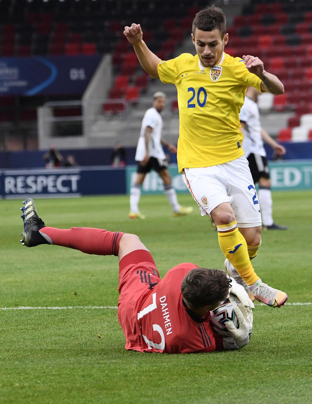 Alex Mățan, în meciul România U21 - Germania U21 / Foto: Profimedia