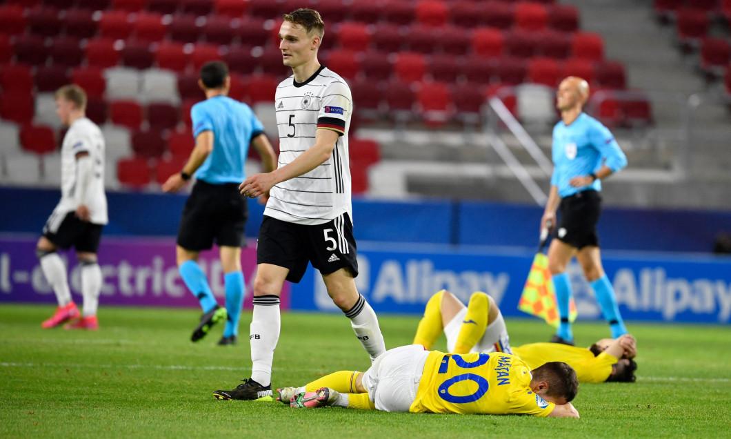 Jucătorii României U21, după remiza cu Germania / Foto: Profimedia