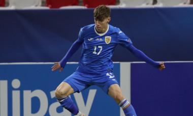 Octavian Popescu, în meciul Ungaria U21 - România U21 1-2 / Foto: Profimedia
