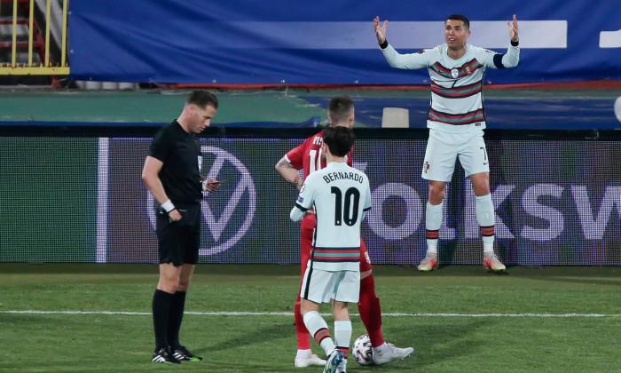 Serbia v Portugal, FIFA World Cup Qualifiers, Group A, Rajko Mitic Stadium, Belgrade, Serbia - 27 Mar 2021