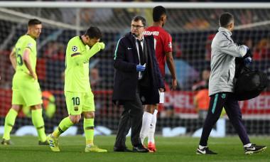 Lionel Messi, în meciul Manchester United - Barcelona / Foto: Getty Images