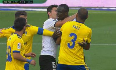 Mouctar Diakhaby, în meciul Cadiz - Valencia / Foto: Captură Digi Sport
