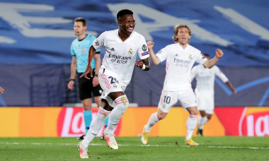 Vinicius, în meciul Real Madrid - Liverpool din sferturile Champions League / Foto: Getty Images