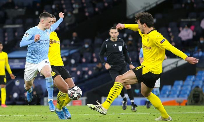 Manchester City v Borussia Dortmund, Champions League - 06 Apr 2021