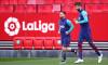 Gerard Pique și Lionel Messi, la un antrenament al Barcelonei / Foto: Getty Images