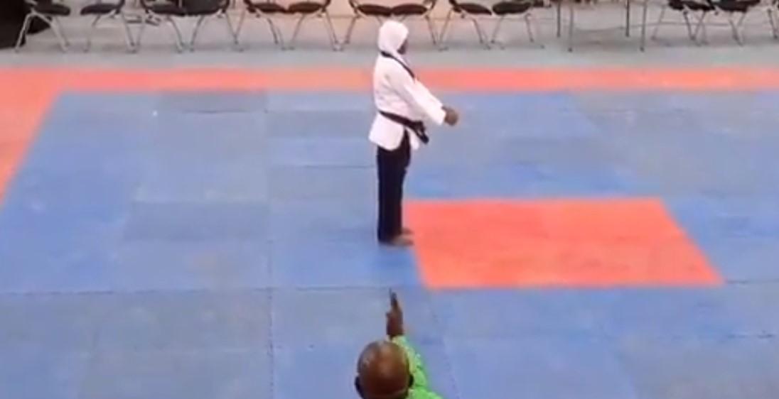 O sportivă însărcinată în opt luni a câștigat medalia de aur la Taekwondo