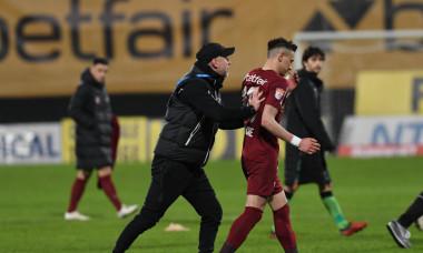 Edi Iordănescu și Valentin Costache, după CFR Cluj - Dinamo 1-0 / Foto: Sport Pictures