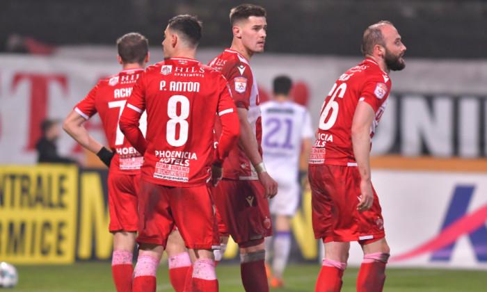 Ante Puljic, Paul Anton, Ricardo Grigore și Vlad Achim, într-un meci Dinamo - FC Argeș / Foto: Sport Pictures