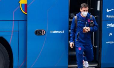 Leo Messi, la sosirea la Madrid / Foto : twitter@FC Barcelona