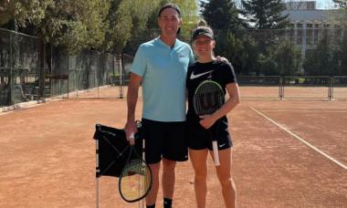 Simona Halep, alături de Darren Cahill, la antrenament / Foto: Instagram@simonahalep