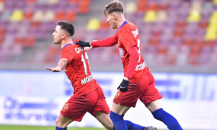 Olimpiu Moruțan, după golul marcat în FCSB - CFR Cluj 3-0 / Foto: Sport Pictures