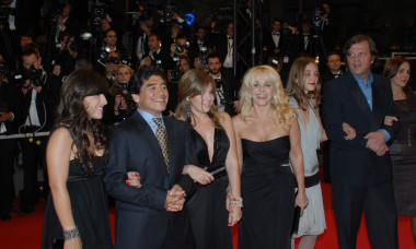 """*ARCHIVE IMAGES* Diego Armando Maradona Attends Photocall And Red Carpet For The Film """"Maradona"""", During 2008 Cannes Film Festival"""