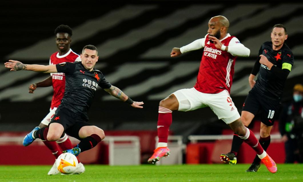Arsenal v Slavia Prague, UEFA Europa League, Quarter Final, First Leg, Football, Emirates Stadium, London, UK - 08 Apr 2021