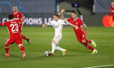 Modric, în meciul Real Madrid - Liverpool