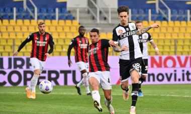 Dennis Man, în meciul Parma - AC Milan / Foto: Profimedia