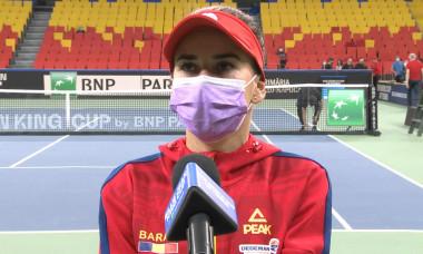 Irina Bara, la interviul de după meciul cu Elisabeta Cocciaretto / Foto: Captură Digi Sport