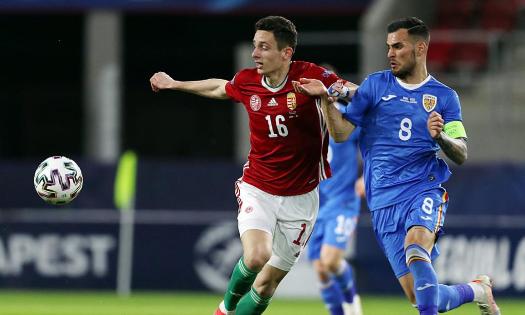 Marius Marin, în meciul Ungaria U21 - România U21 / Foto: Profimedia
