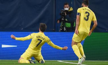 Gerard Moreno, după golul marcat în Villarreal - Dinamo Zagreb / Foto: Profimedia