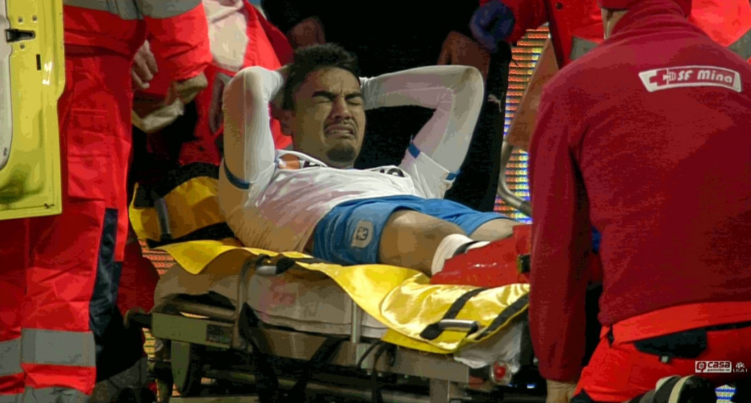 Ștefan Baiaram a fost accidentat de Bryan Nouvier / Foto: Captură Digi Sport