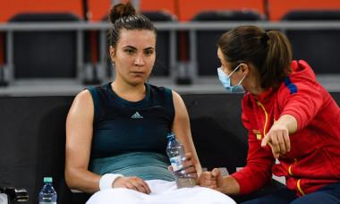 Gabriela Ruse și Monica Niculescu, în timpul meciului cu Jasmine Paolini / Foto: Sport Pictures