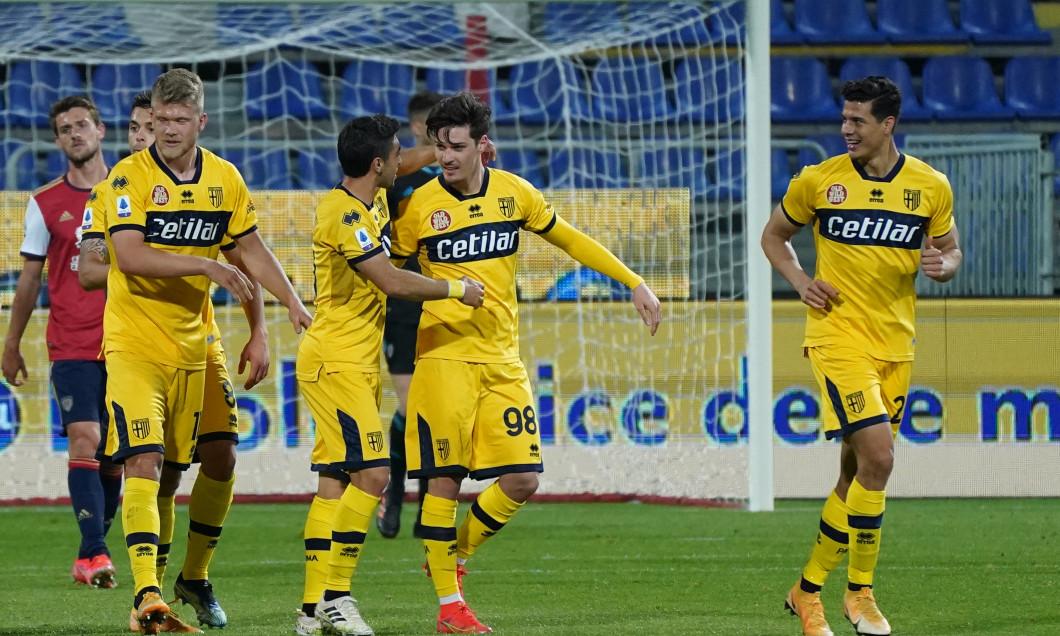 Dennis Man, după golul marcat în Cagliari - Parma / Foto: Profimedia
