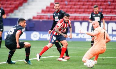 Soccer: La Liga - At Madrid v SD Eibar, Spain - 18 Apr 2021