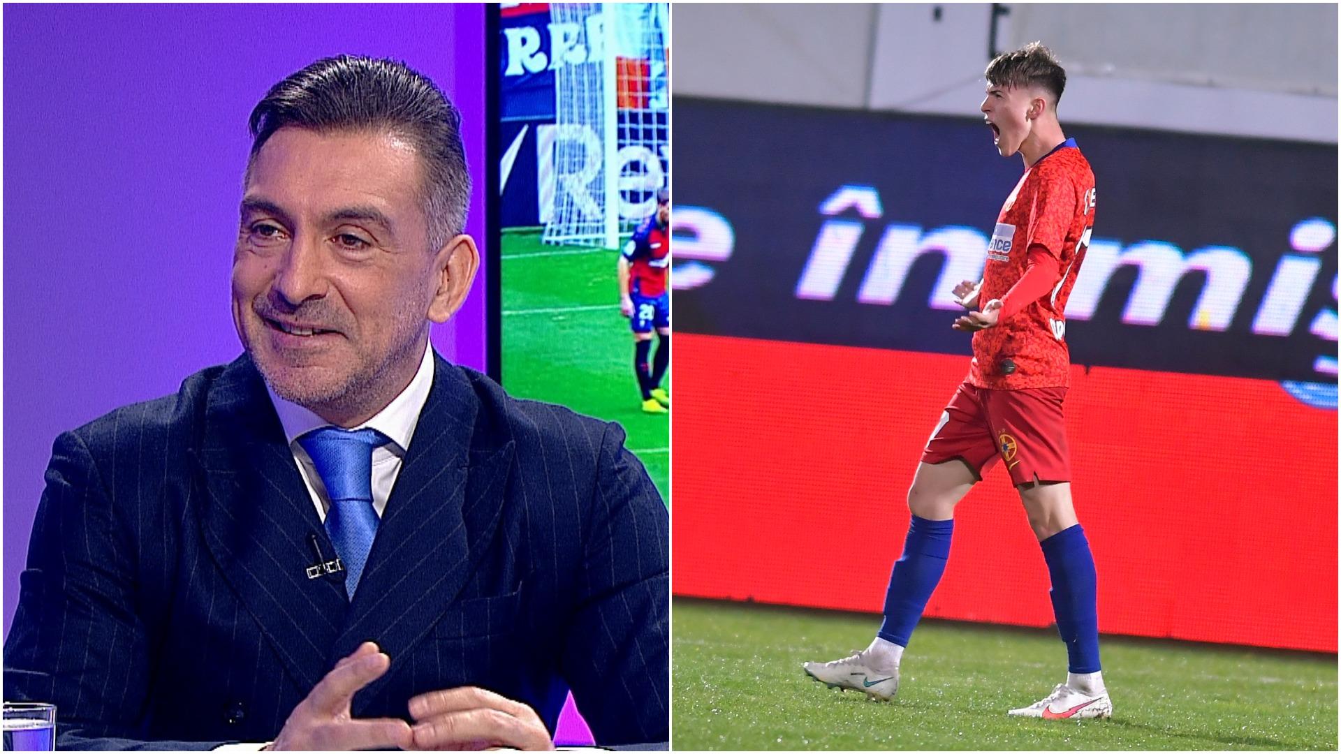 """""""Ăsta e Octavian Popescu pe care și-l doresc toți!"""". Ilie Dumitrescu, sfat pentru puștiul lui FCSB cu """"tricou de lider"""""""