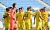 Fotbaliștii de la Petrolul, în meciul cu Viitorul Pandurii Târgu Jiu / Foto: Sport Pictures
