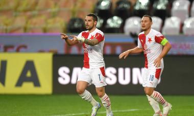 Nicolae Stanciu, după golul marcat pentru Slavia Praga în meciul cu Zlin / Foto: Profimedia