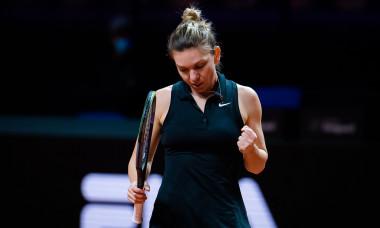 Simona Halep, în meciul cu Marketa Vondrousova / Foto: Profimedia