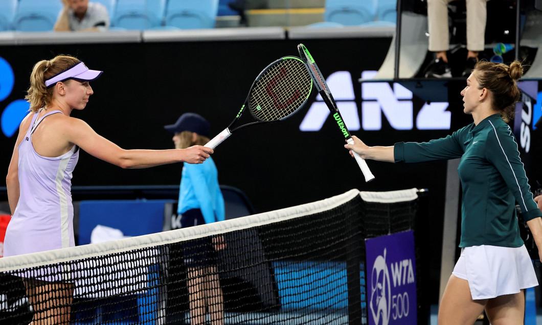 Simona Halep și Ekaterina Alexandrova / Foto: Profimedia