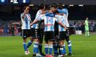 Fotbaliștii lui Napoli, în meciul cu Lazio / Foto: Getty Images