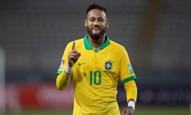Lima, Peru. 13th October 2020; National Stadium of Peru, Lima, Peru; FIFA World Cup 2022 qualifying; Peru versus Brazil; Neymar of Brazil celebrates his penalty goal in the 28th minute 1-1 Credit: Action Plus Sports Images/Alamy Live News