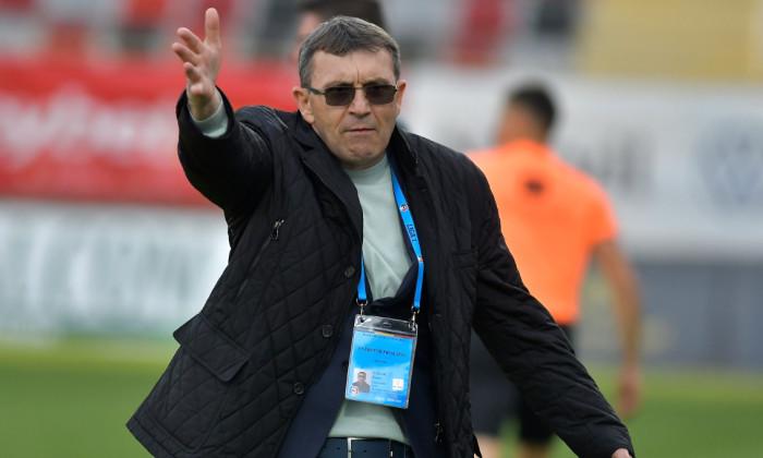 Eugen Neagoe, antrenorul Astrei, în timpul meciului cu FC Argeș / Foto: Sport Pictures