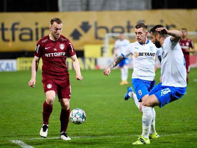 Universitatea Craiova – CFR Cluj 0-1, ACUM, pe Digi Sport 1. Păun deschide scorul în minutul 5