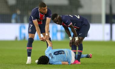 Kylian Mbappe, Idrissa Gueye și Ilkay Gundogan, în meciul PSG - Manchester City / Foto: Getty Images