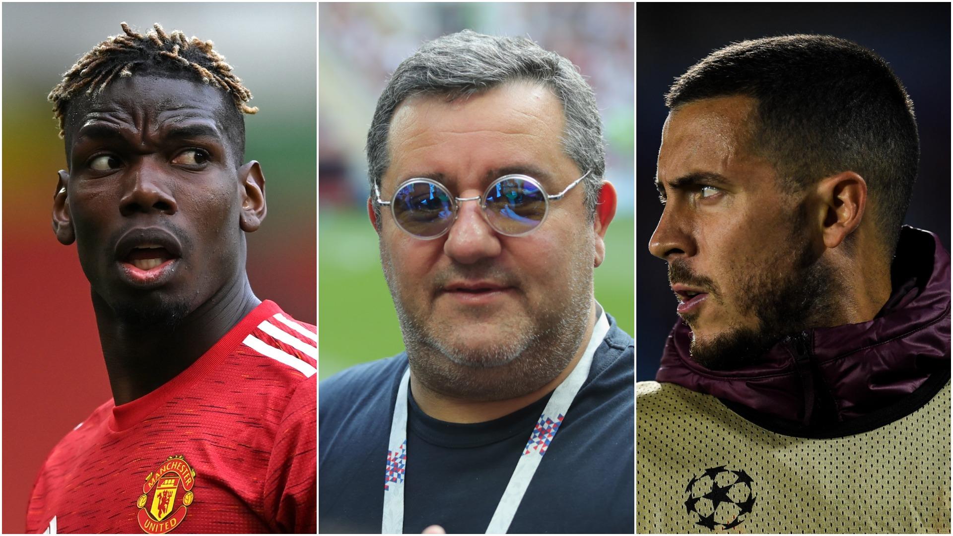 """E mâna lui Raiola în """"mega-mutarea"""" verii. Paul Pogba, la schimb cu Eden Hazard. Anunțul presei britanice"""