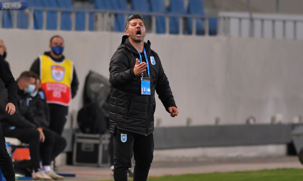 Marinos Ouzounidis, antrenorul Universității Craiova / Foto: Sport Pictures