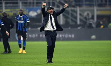 the happiness finale of coach of inter antonio conte during FC Internazionale vs AC Milan, Milano, Italy, 09 Feb 2020, Soccer italian Serie A soccer m