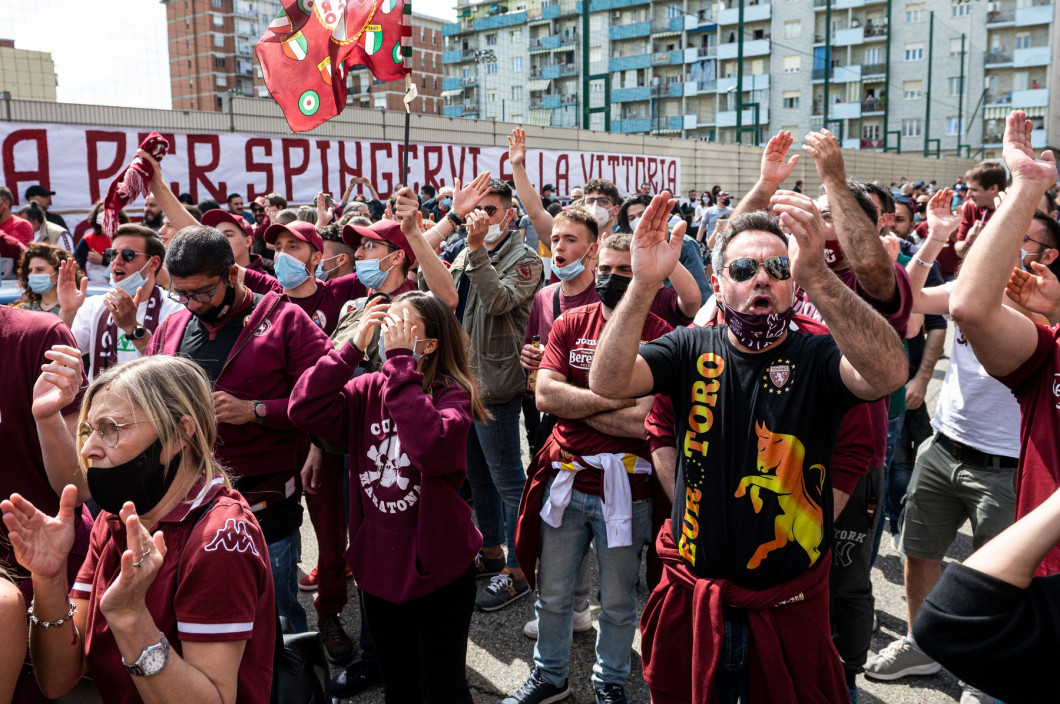 Torino FC fans support the team